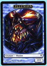 6X 2/2 Blue Illusion Token Card LP Zendikar MTG Magic Card