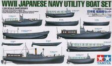 TAMIYA 1/350 SECONDA GUERRA MONDIALE giapponese blu navy UTILITÀ BARCA Set