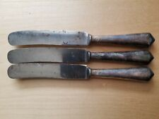 "3 ANTIQUE KNIVES 8"", BERNDORF, ALPACA HOLLOW HANDLE,"