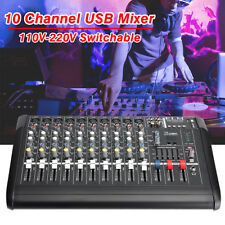 2000 Watt 10 Channel Professional Powered Mixer Power mixing Amplifier Amp BM228