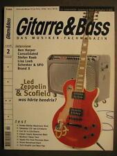 GITARRE & BASS 1998 # 2 - LED ZEPPELIN JOHN SCOFIELD BEN HARPER MICHAEL SCHENKER