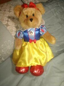 "Disney Animal Alley Snow White Bear Stuffed 18"""