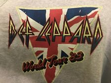 DEF LEPPARD World Tour '83 Tank Top Shirt XXL Heather Gray *New* Rock Concert