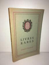 Catalogue DE BEAUX LIVRES RARES EN VENTE A LA LIBRAIRIE ROMBALDI 1943 - CA67A