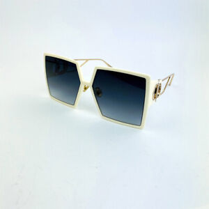 CHRISTIAN DIOR 30MONTAIGNE Women's Square Sunglasses Eyewear Ivory / Gray - New