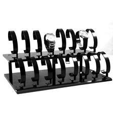 Black 2 Tier Bracelet Wrist Watch Bangle Jewelry Display Stand Rack Holder