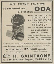 Z9632 Thermomètre ODA - H. Saintagne -  Pubblicità d'epoca - 1938 Old advert