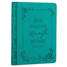Womens Journal Leather Diary Devotional Turquoise Book Bible Scripture Notebook