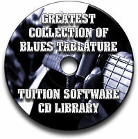 67 BLUES GUITAR TABS TABLATURE SONG BOOK LIBRARY SOFTWARE COLLECTION CD