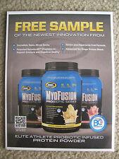 Gaspari Myofusion Promotional Standee Bodybuilding Memorabilia Advertisement