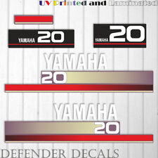 Yamaha 20 HP Nineties outboard engine decal sticker Set Kit reproduction 20HP