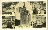 Hotel Edison 47th and Broadway New York 1944 Ear Vintage Postcard BB1