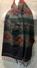 "MENS GEOFFREY BEENE SCARF  100% ACRYLIC Made in Italy Pre owned 62""x12"""