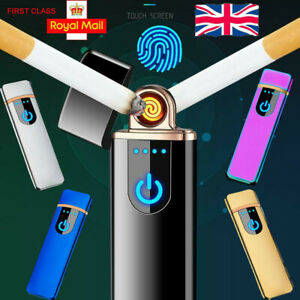 Mini Double Electric Lighter USB Charging Touch Control Windproof Lighter 2021