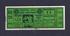 RARE 1939 IRELAND vs Chicago INTERNATIONAL AMATEUR  boxing ticket  Solider Field