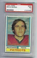 NM 1974 Topps #522 Bruce Barnes RC graded PSA 7. Scarce card in higher grades.
