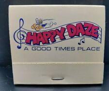 Happy Daze 223 North Glendale Ave. Glendale California Unstruck Matchbook