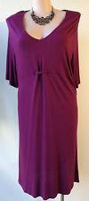 MY SIZE purple dress size S/16 stretch 3/4 sleeves violet
