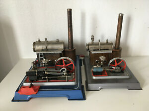 2 WILESCO machines à vapeur Dampfmaschine Steam Engine