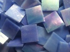 Stained Glass Mosaic Tiles - 25 ct - 3/4 inch Iridescent Blue - Dti