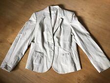 marks and spencer Beige Linen Mix Jacket Size 14