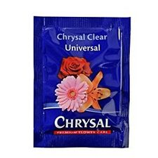 Chrysal Flower Food -100 Packets Fresh Cut Flowers Clear formula Hydrate Nourish