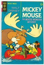 WALT DISNEY'S MICKEY MOUSE THE MOOSE MONSTER MYSTERY # 122 AUG. 1969 FINE