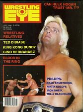 RIC FLAIR Wrestling Eye Magazine July 1986 GREG VALENTINE Centerfold