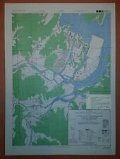 1945 US Army Map - City Plan of Saeki, Oita Prefecture, Kyushu Japan 1:12,500