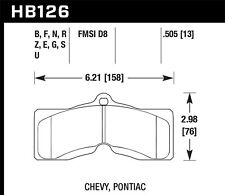 Disc Brake Pad Set-DTC-70 Disc Brake Pad Front,Rear fits 1966 Chevrolet Corvette