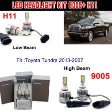 4PCS  LED Headlight Kit H11 9005 High Low Beam Bulbs For Toyota Tundra 2013-2007