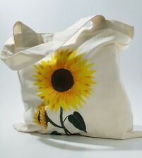 Sunflower handepainted canvas bag, tote bag, resuable shopping bag for sunflower