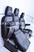 2012-17 FORD TRANSIT CUSTOM VAN SEAT COVER  DARK GREY ALCANTARA