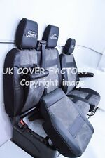 I2012-17 FORD TRANSIT CUSTOM / MK8  VAN SEAT COVER  DARK GREY ALCANTARA