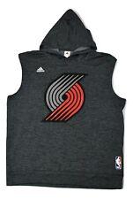 adidas NBA Mens Portland Trail Blazers Sleeveless Hoodie New XL, 2XL