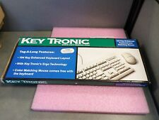 NEW - KEY TRONIC Keyboard and Mouse TAG-A-LONG beige
