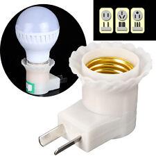 E27 Base To AC Power 110V 220V Lamp Bulb Socket Adapter Converter US Plug On-Off