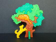 Jouet Kinder Puzzle 3D Arbre chien jaune chat orange 613487 Allemagne 1994