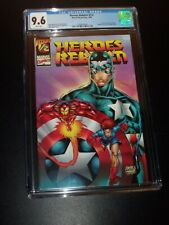 Heroes Reborn #1/2 CGC 9.6 WHITE PGS Marvel Wizard Mail Away Exclusive 1996 RARE