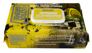 UltraGrime Life OUTDOOR Clothwipes - 80 XXL Disposable Biodegradable Wipes