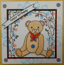 Ted (Teddy Bear) Unmounted Rubber Stamp Set 6077