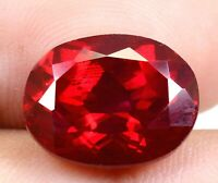 Burma's 12.25 Ct Natural Red Ruby Oval Shape Loose Gemstone Certified F0876