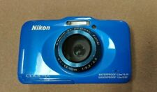 New ListingNikon Coolpix S31 10.1 Mp Digital Camera - Blue Waterproof Point and Shoot - C-1