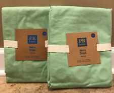 "NEW 2PC Pottery Barn Teen Classic Metro GROMMET 50"" x 63"" Drape GREEN"