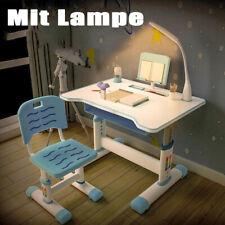 Kinderzimmer Kinderschreibtisch mit Stuhl Kinder Schüler Set Höhenverstellbar DE