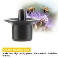 50 Set Plastic Beekeepers Bee Queen Beekeeping Raise Rearing Cell Cup Black