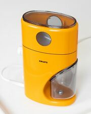 RARE Yellow Krups Type 223 German Coffee Grinder 70s  EXCELLENT COND.