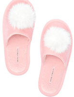 Pom-pom Slippers VICTORIA'S SECRET Pink size Medium 7/8
