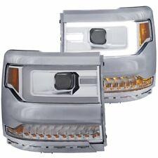 Anzo 111374 Chrome Housing Headlights 2016-2017 Chevy Silverado 1500 Clear Lens