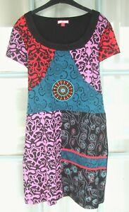 JOE BROWNS Fab.Tunic Dress 14 multi patterned, embroidered mandala, Festivals!